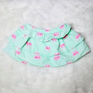 Carter's Bicycle layered ruffle skirt 6 months